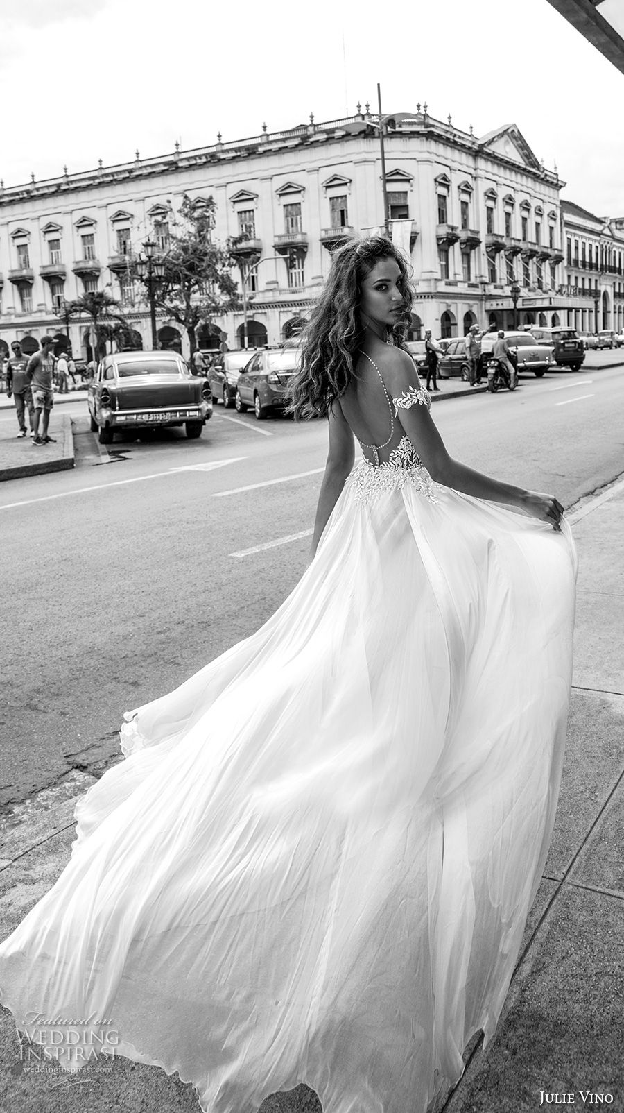 julie vino fall 2018 havana off the shoulder deep plunging sweetheart neckline heavily embellished bodice double slit skirt romantic sexy soft a line wedding dress sweep train (16) bv