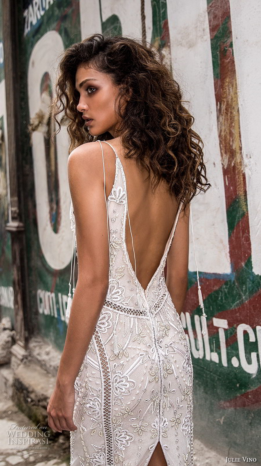 julie vino fall 2018 havana spaghetti strap deep sweetheart neckline full embellishment elegant glamorous sheath wedding dress open v back sweep train (14) zbv
