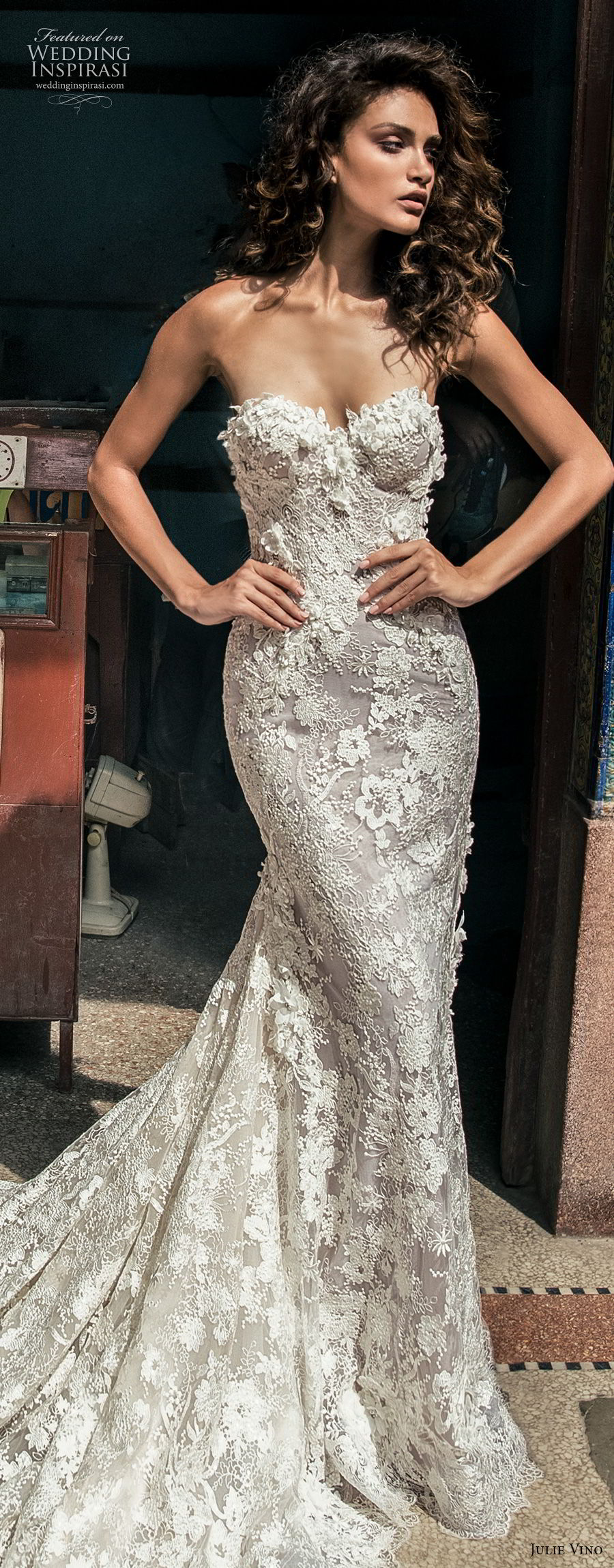 julie vino fall 2018 havana strapless sweetheart neckline full embellishment elegant sexy fit and flare wedding dress royal train (12) lv