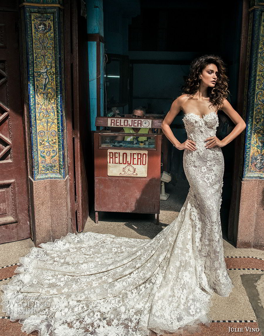 julie vino fall 2018 havana strapless sweetheart neckline full embellishment elegant sexy fit and flare wedding dress royal train (12) mv