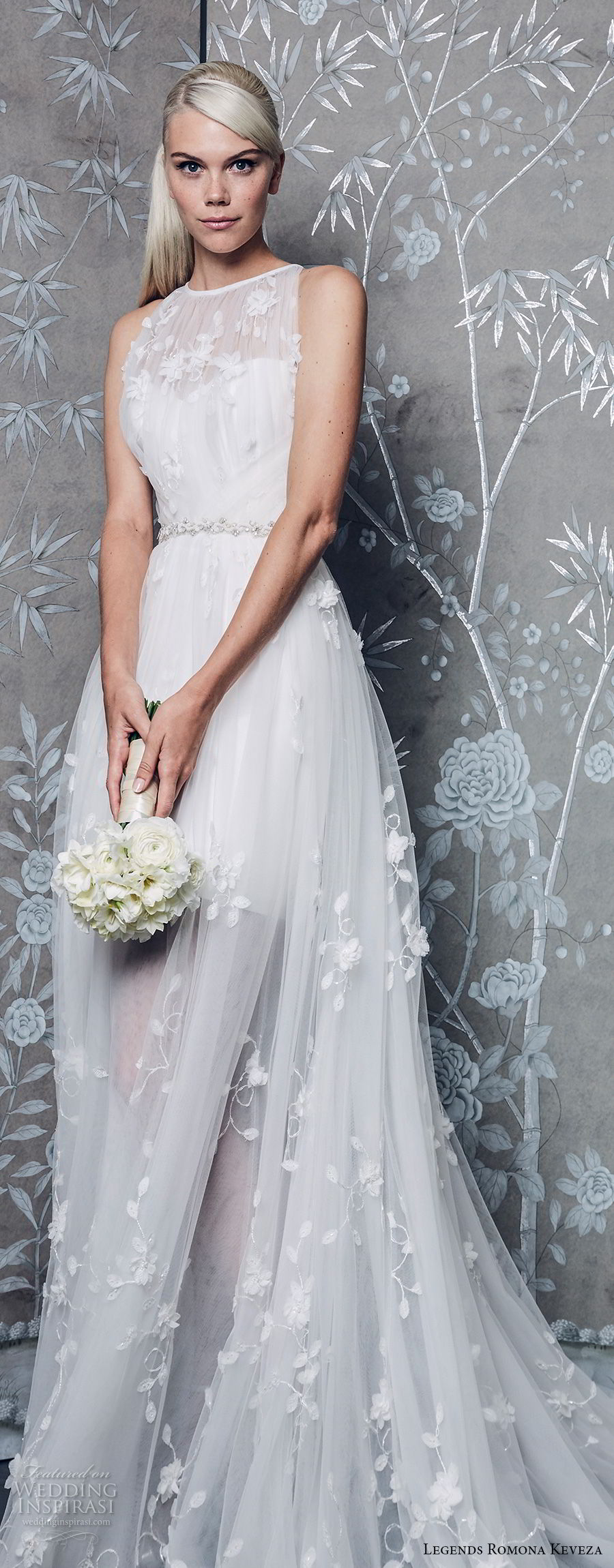 legends romona keveza fall 2018 sleeveless illusion jewel neck sweetheart neckline full light embellishment romantic soft a line wedding dress chapel train (3) lv