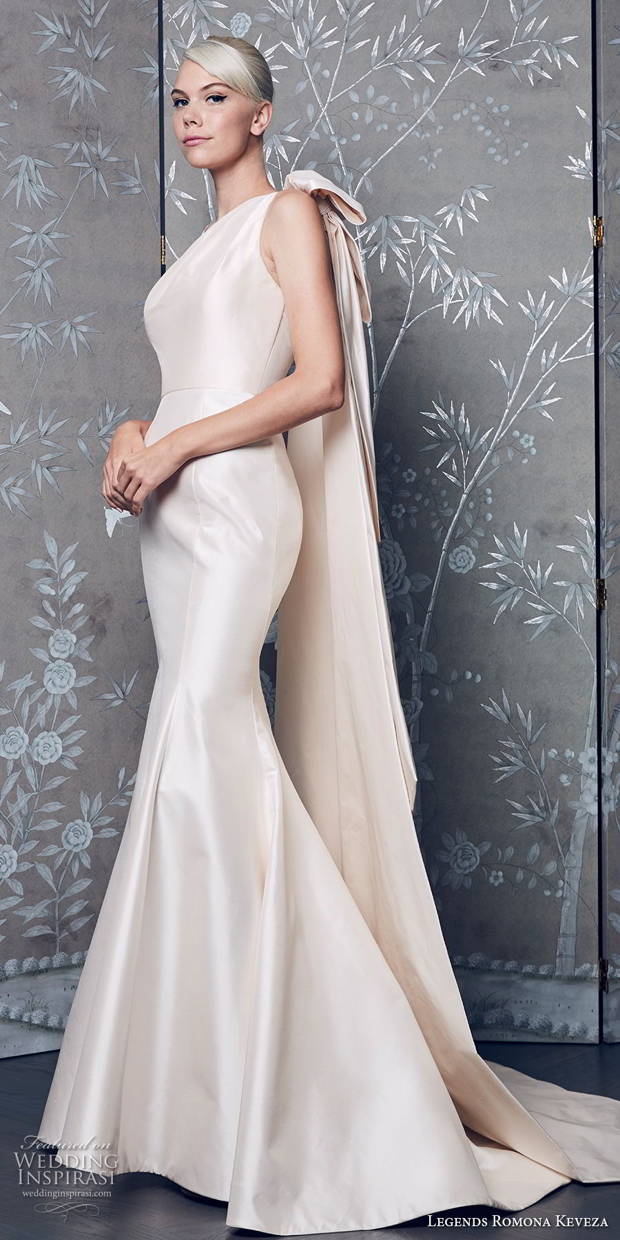 legends romona keveza fall 2018 sleeveless simple clean satin skirt elegant classic mermaid wedding dress sweep train (7) mv