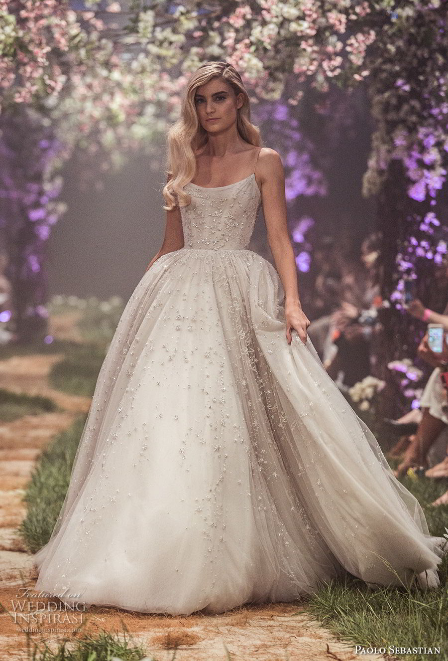paolo sebastian spring 2018 couture spaghetti strap scoop neck full embellishment princess ball gown a  line wedding dress (15) mv