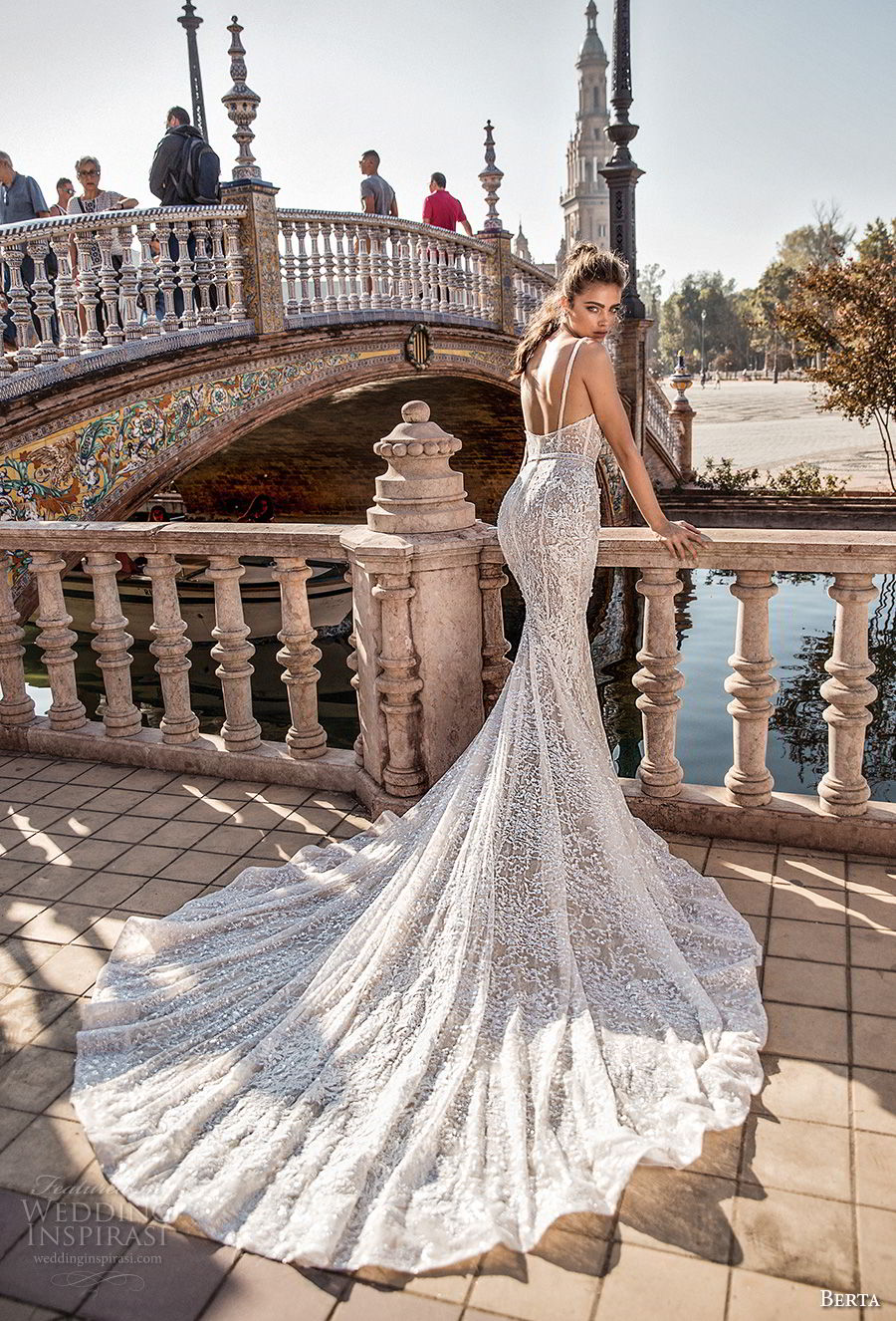 berta fall 2018 bridal thin strap deep sweetheart neckline full embellishment elegant mermaid wedding dress open back royal train (7) bv