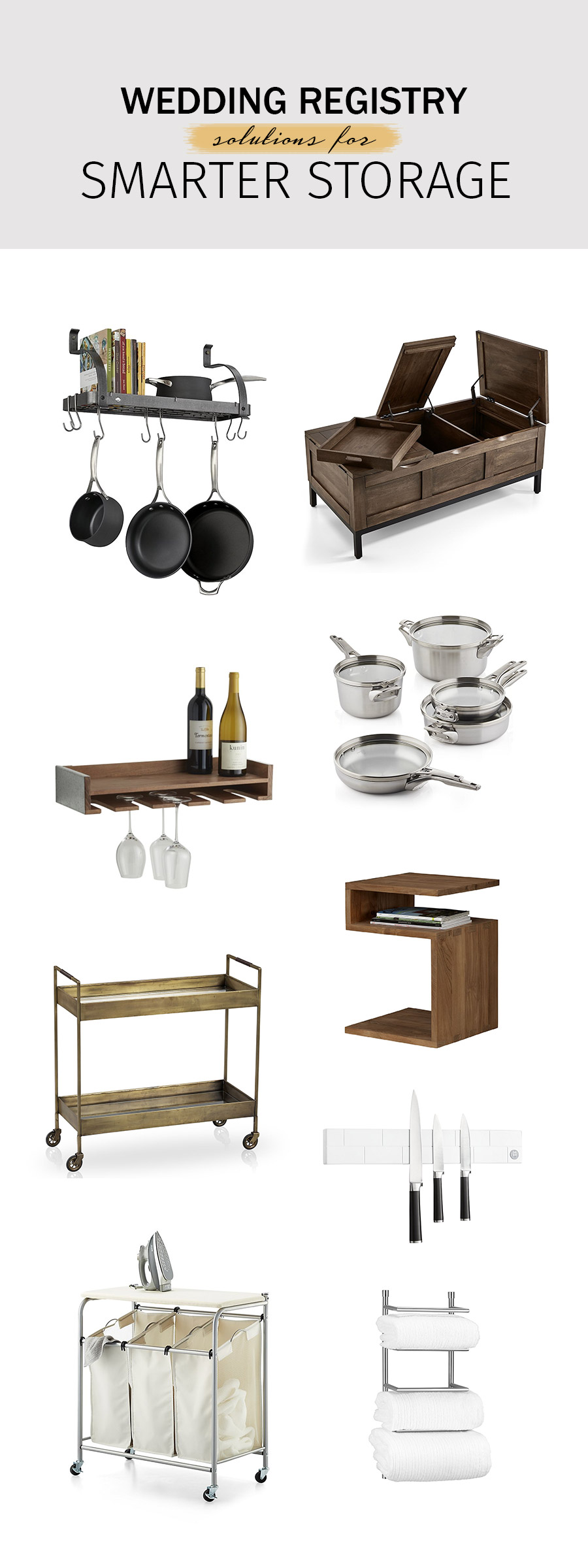 crate and barrel wedding registry ideas 2018 clever storage solutions multi use furniture housewares