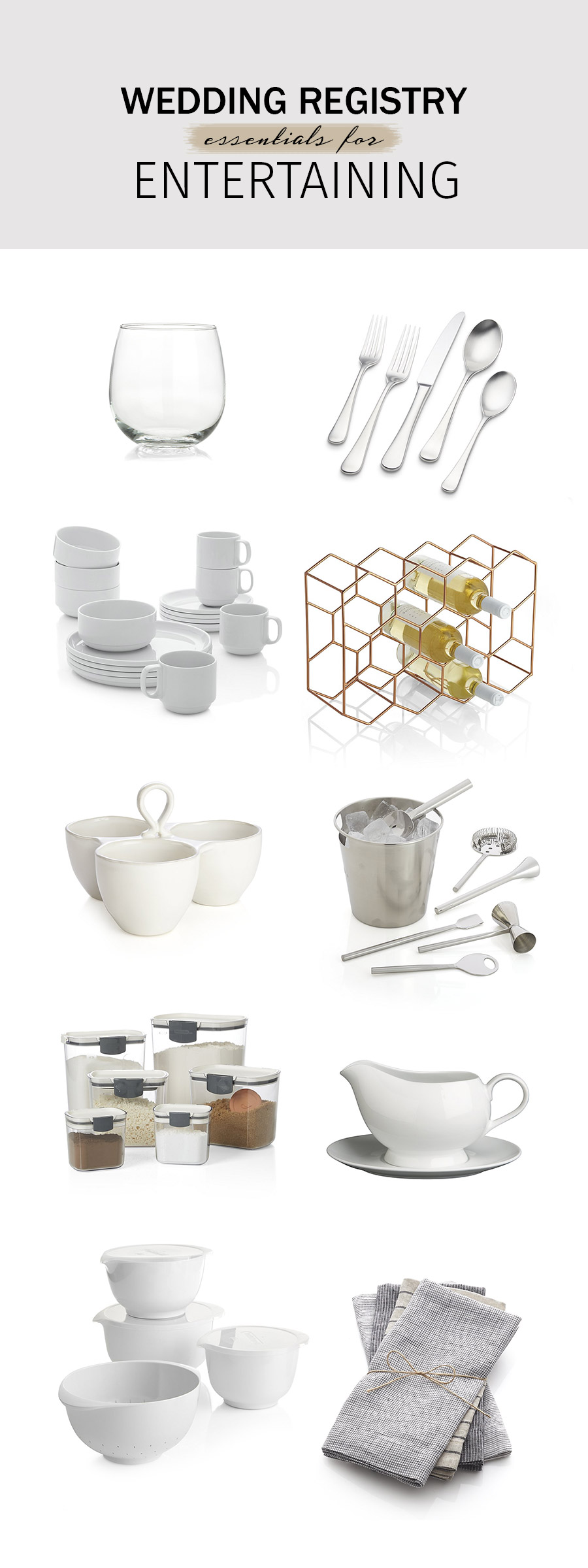 crate and barrel wedding registry ideas 2018 entertaining essentials barware serving mixing prepping tools kitchen
