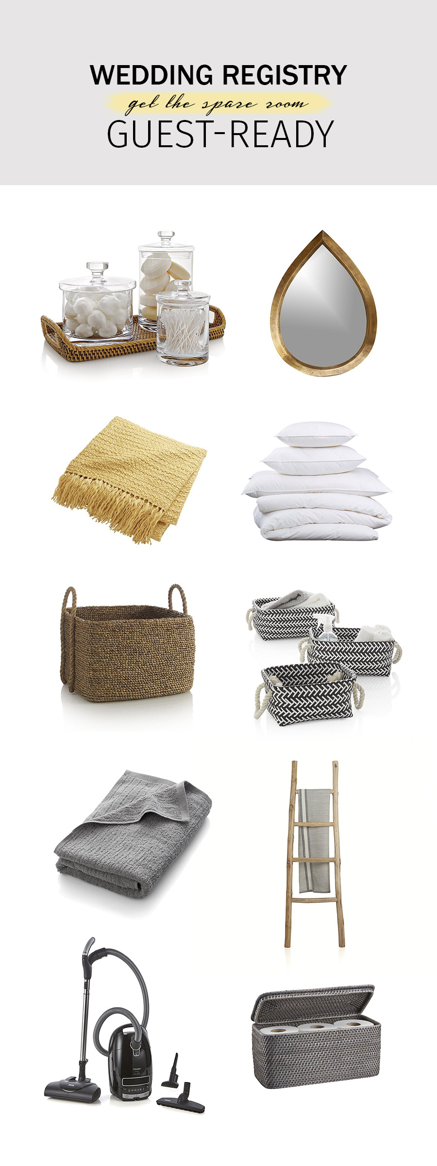 crate and barrel wedding registry ideas 2018 guest ready spare room laundry cleaning solution