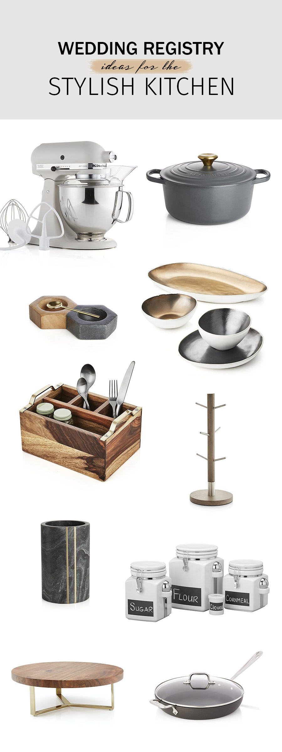 crate and barrel wedding registry ideas 2018 kitchen essentials and stylish entertaining cook prep additions