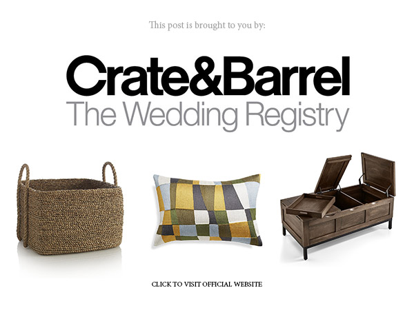 Crate Barrel Wedding Registry.Stylish Picks With Crate And Barrel The Wedding Registry