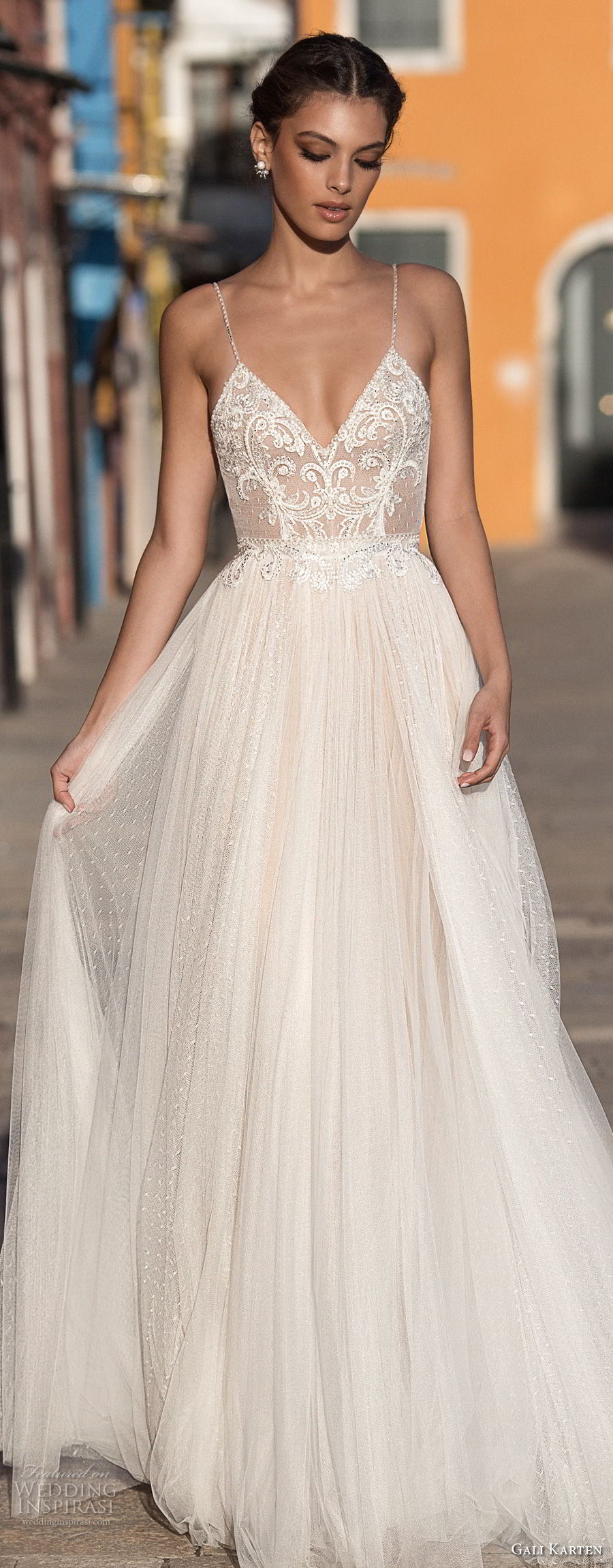 gali karten 2018 bridal spaghetti strap deep sweetheart neckline heavily embellished bodice soft a line wedding dress open scoop back sweep train (9) lv