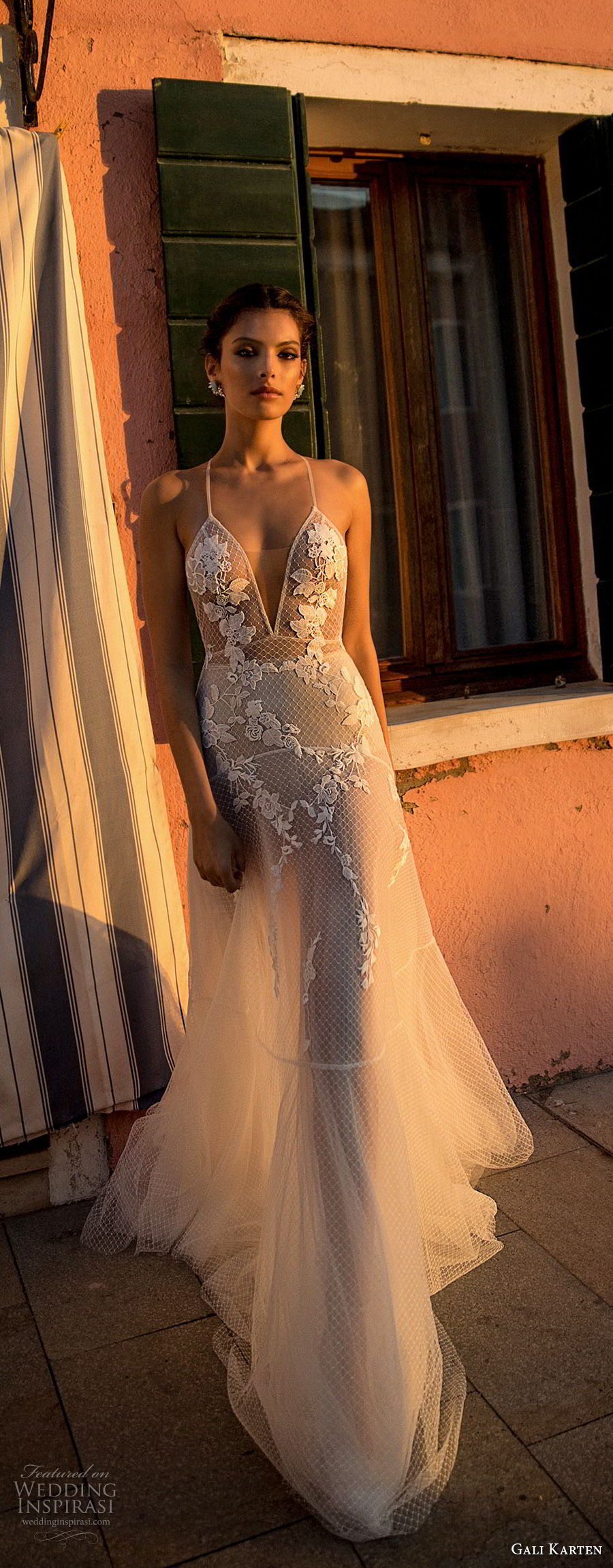 gali karten 2018 bridal spaghetti strap deep v neck heavily embellished bodice romantic soft a  line wedding dress open scoop back sweep train (6) lv
