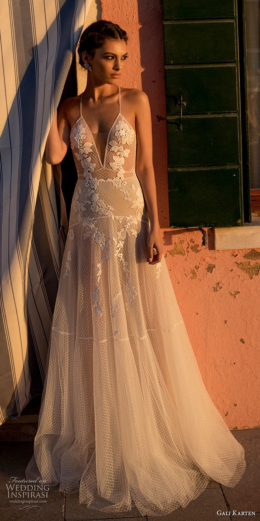 gali karten 2018 bridal spaghetti strap deep v neck heavily embellished bodice romantic soft a line wedding dress open scoop back sweep train (6) mv