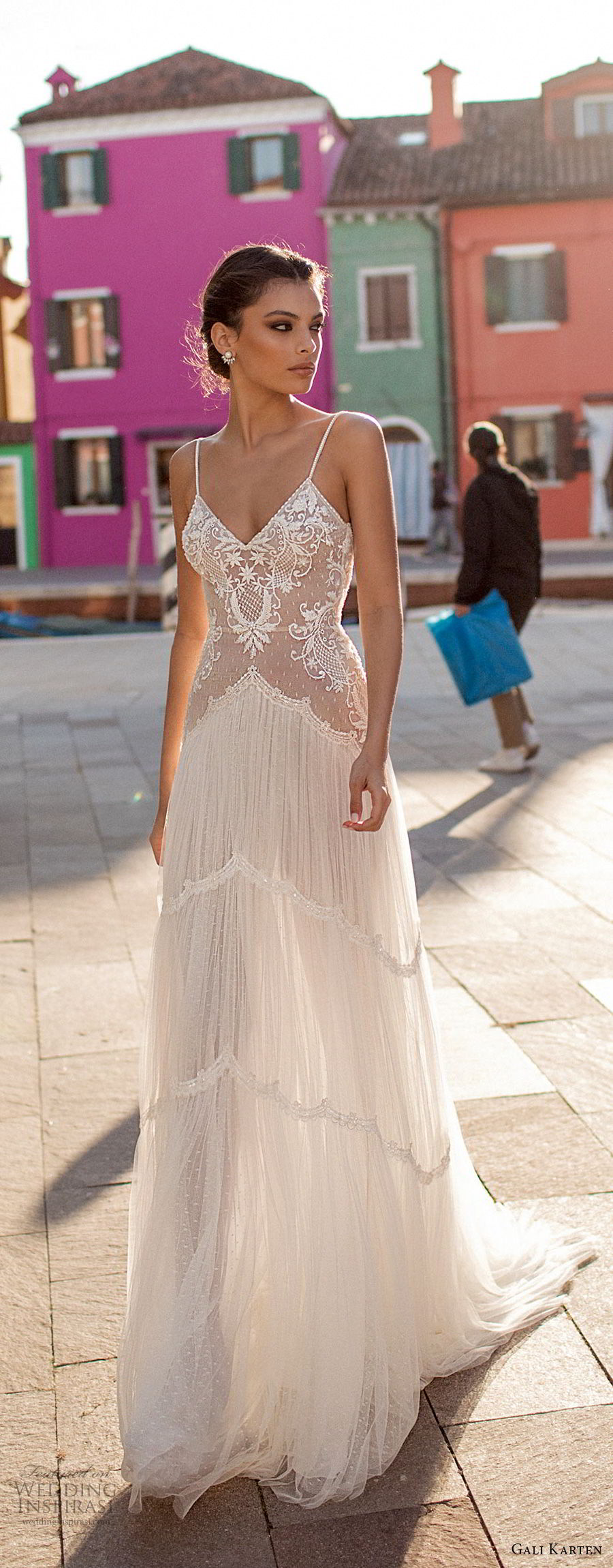 gali karten 2018 bridal spaghetti strap sweetheart neckline heavily embellished bodice romantic soft a line wedding dress open scoop back sweep train (10) lv