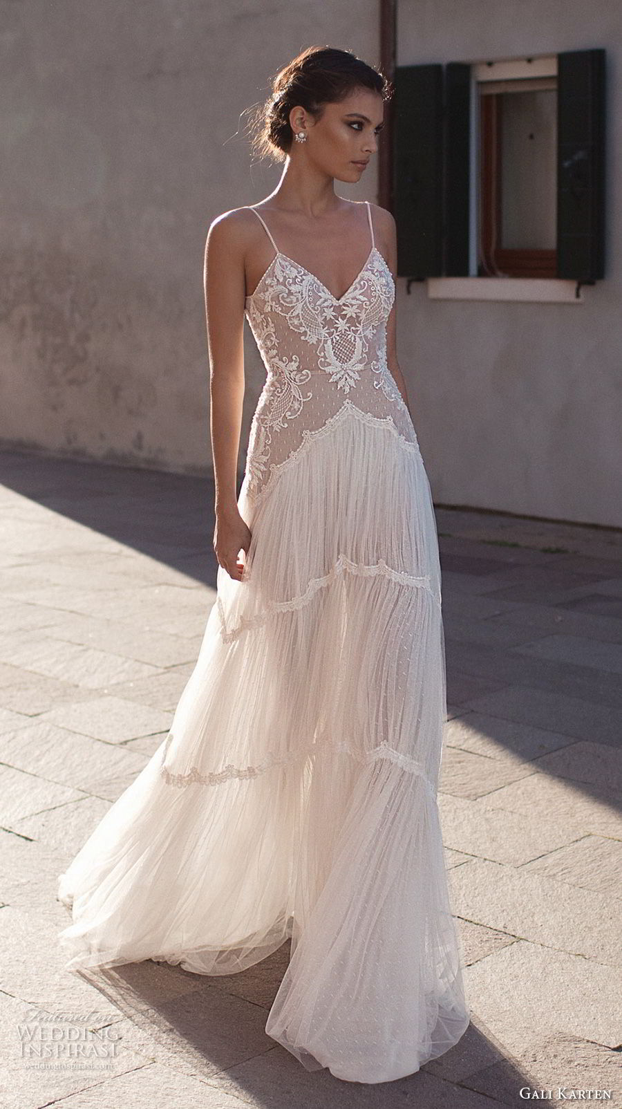 gali karten 2018 bridal spaghetti strap sweetheart neckline heavily embellished bodice romantic soft a line wedding dress open scoop back sweep train (10) mv