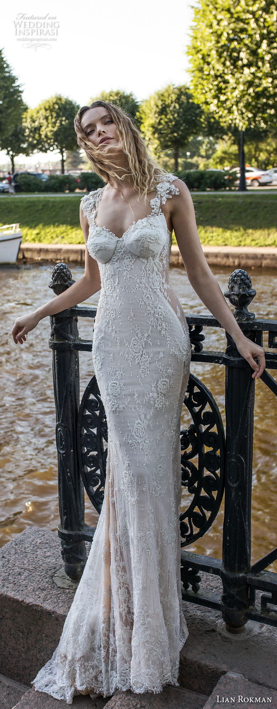 lian rokman 2018 bridal thick strap sweetheart neckline full embellishment buster elegant fit and flare sheath wedding dress low open back sweep train (11) mv