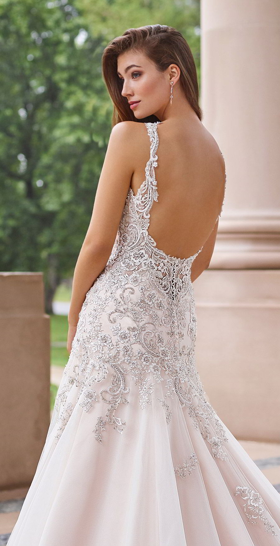 martin thornburg mon cheri spring 2018 bridal sleeveless beaded straps sweetheart beaded bodice a line fit flare wedding dress (118260 minuet) zbv romantic