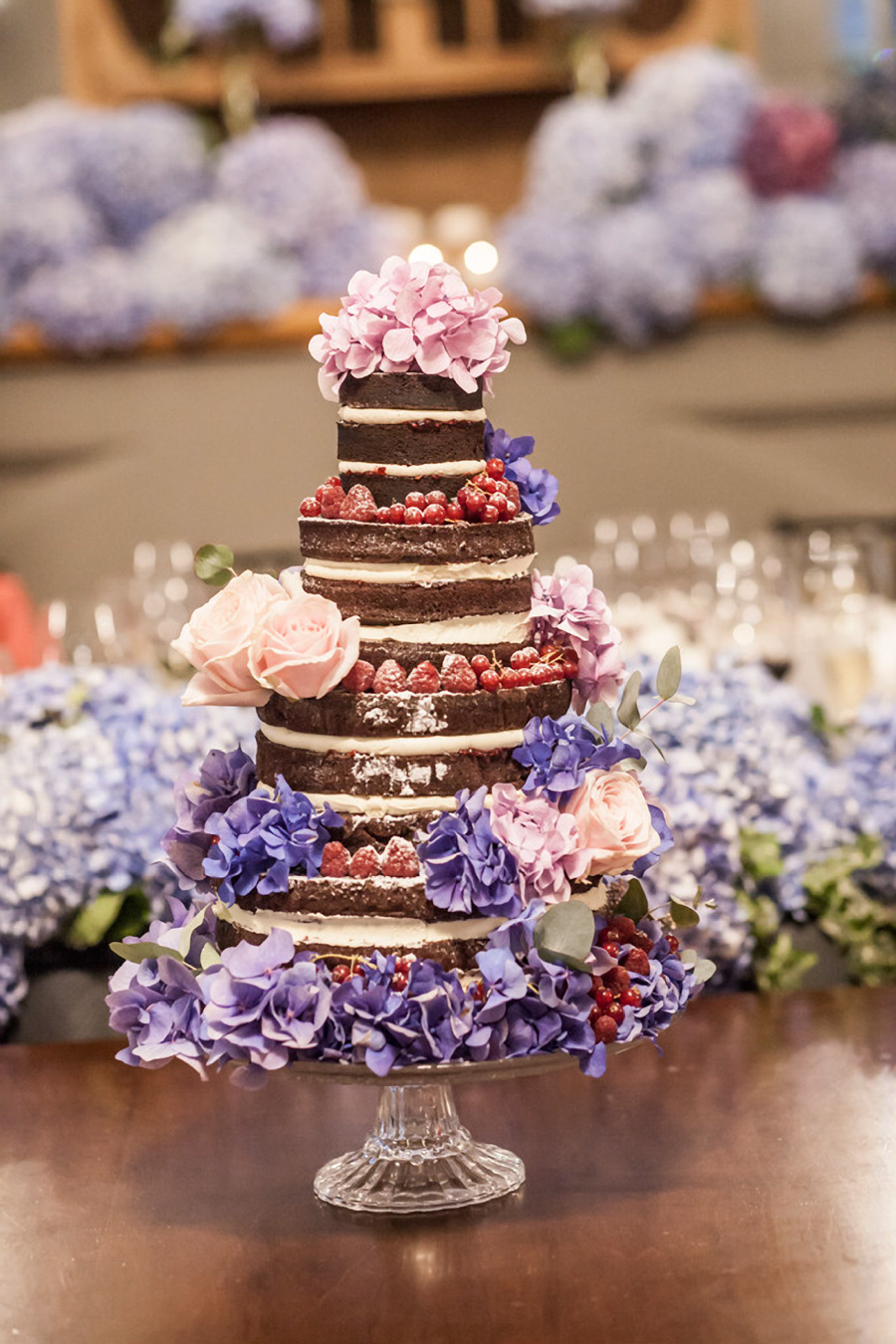 naked 4 tier purple pink floral wedding cake (22) mv