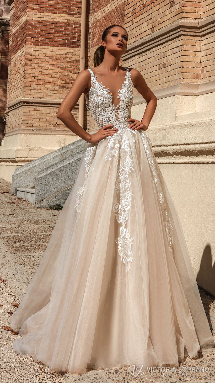 Victoria soprano 2018 wedding dresses the one bridal for Champagne color wedding dresses