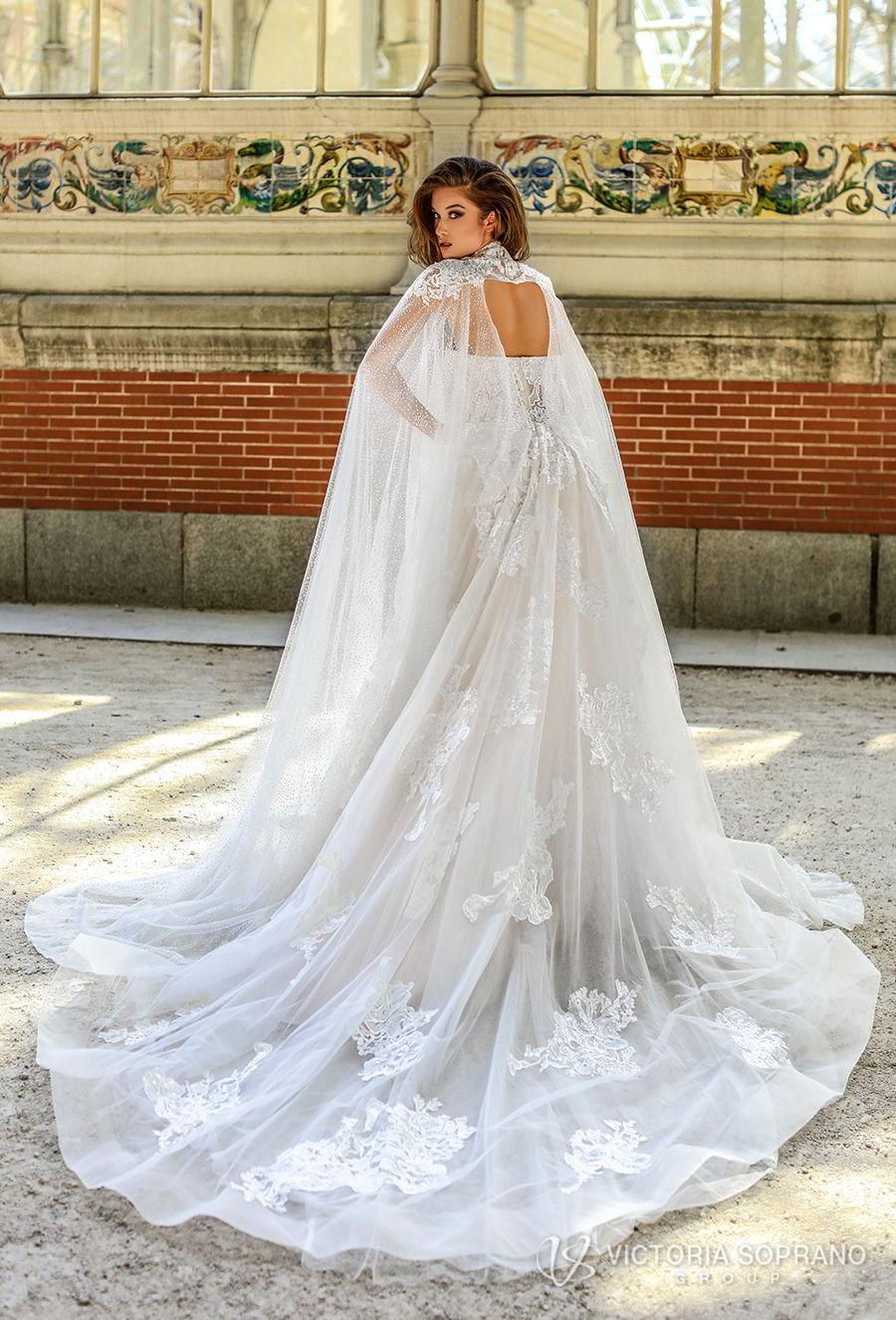 victoria soprano 2018 bridal strapless sweetheart neckline full embellishment romantic a  line wedding dress chapel train (hanna) bv