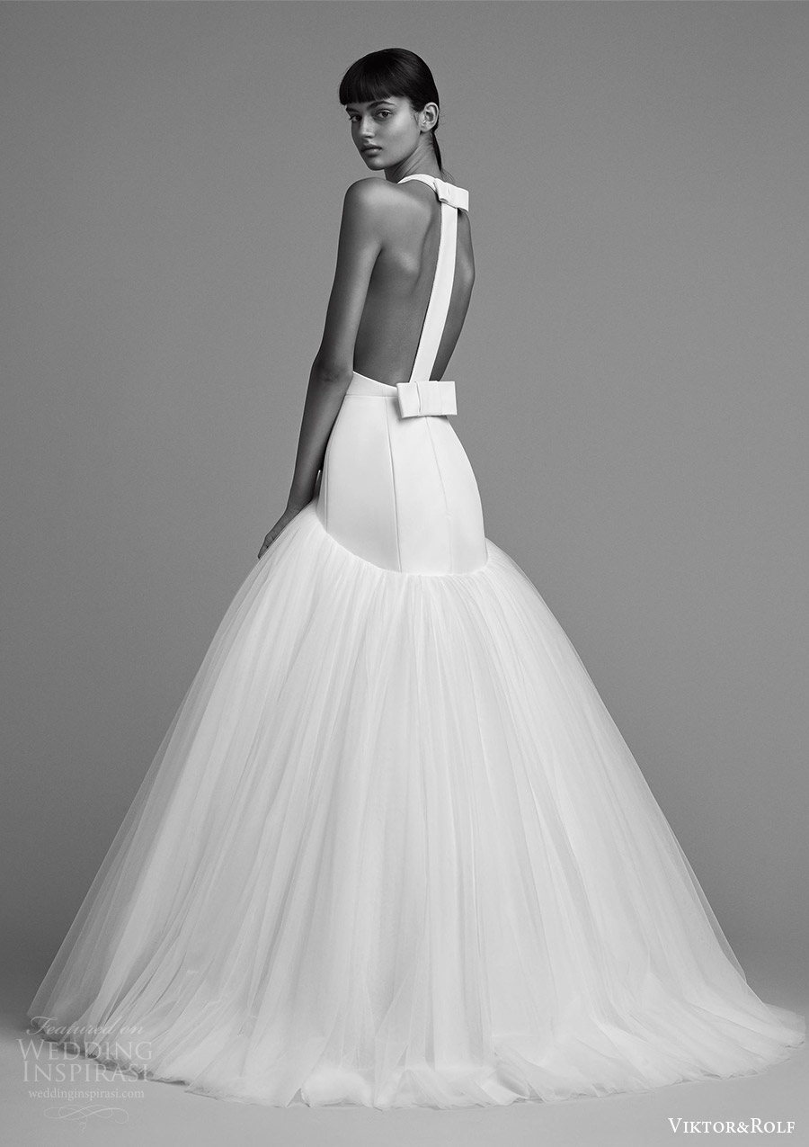 viktor and rolf fall 2018 bridal sleeveless back drop waist ball gown wedding dress (3) bv modern