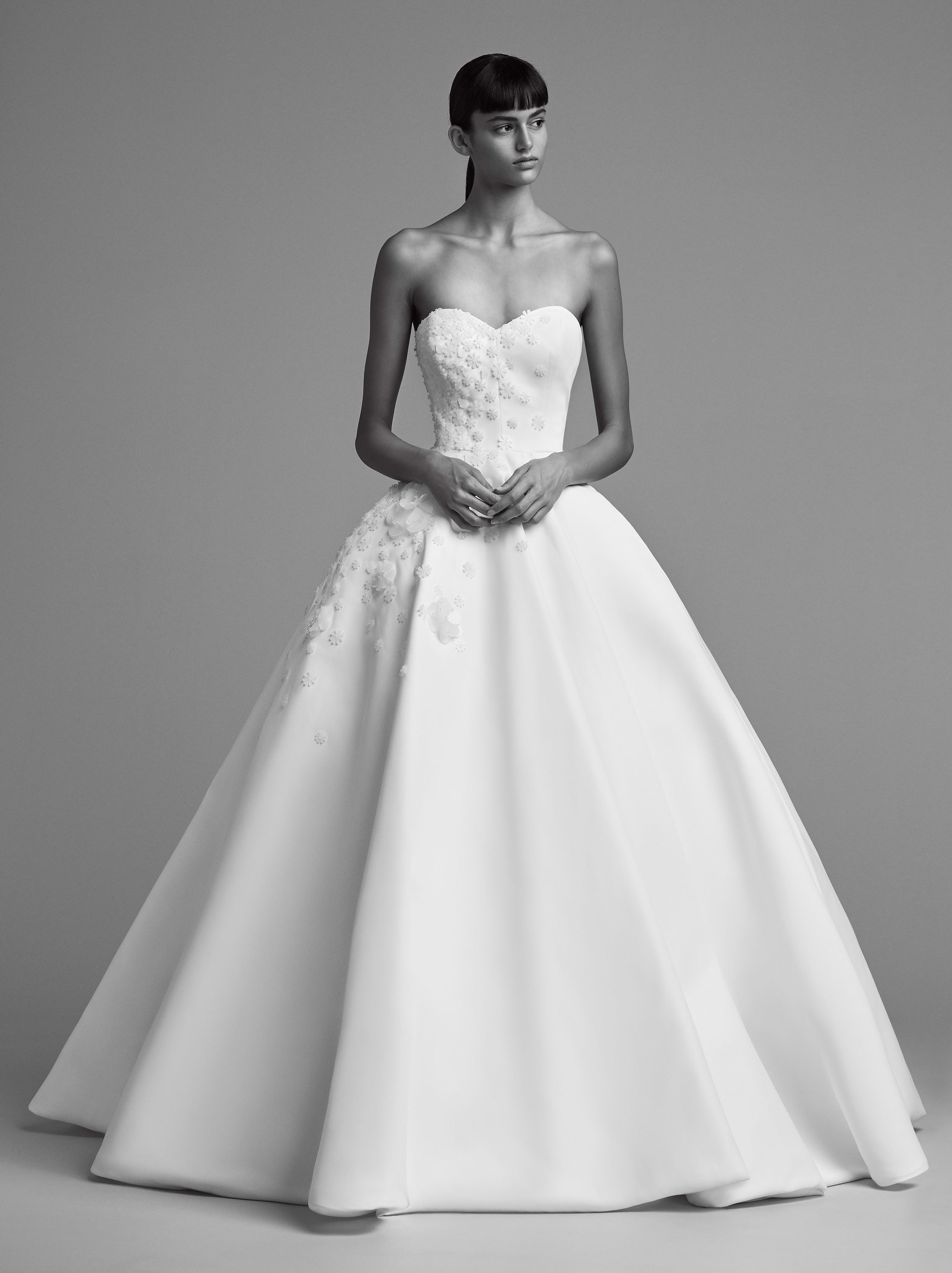 viktor and rolf fall 2018 bridal strapleass sweetheart embellished bodice ball gown wedding dress (20) mv romantic modern