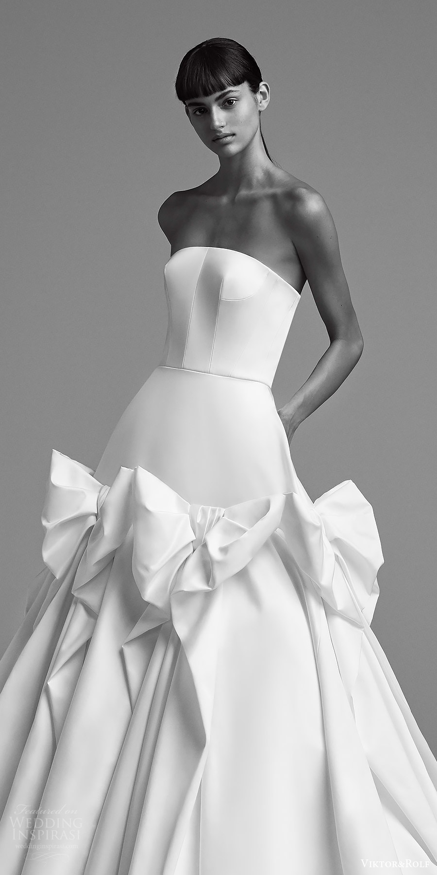 Viktor And Rolf Fall 2018 Bridal Strapless Straight Across Ball Gown Wedding Dress 9