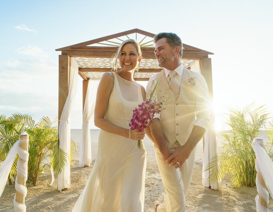 apple vacations couples resorts destination wedding jamaica beach front ceremony inspiration