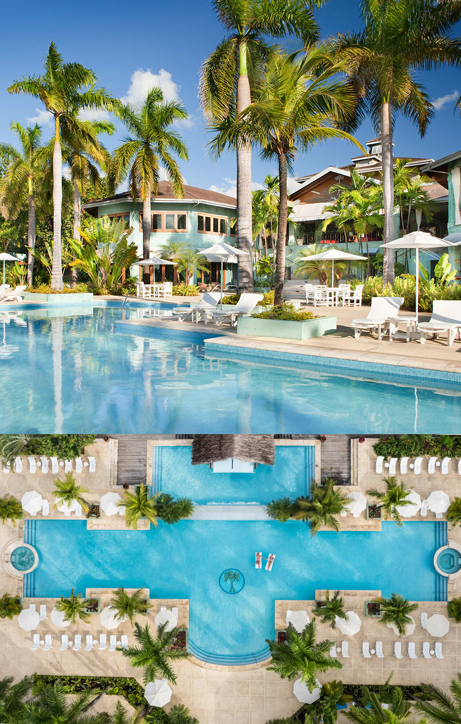 apple vacations jamaica destination wedding couples resorts negril tropical wedding swimming pool