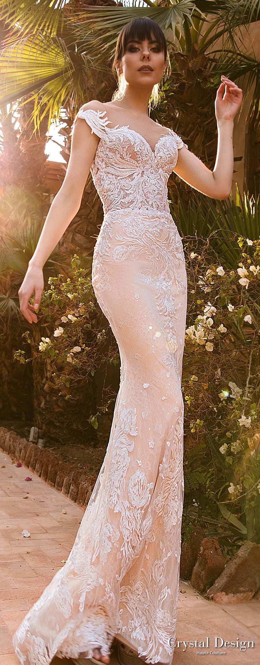 Crystal design 2018 wedding dresses royal garden for Butterfly back wedding dress