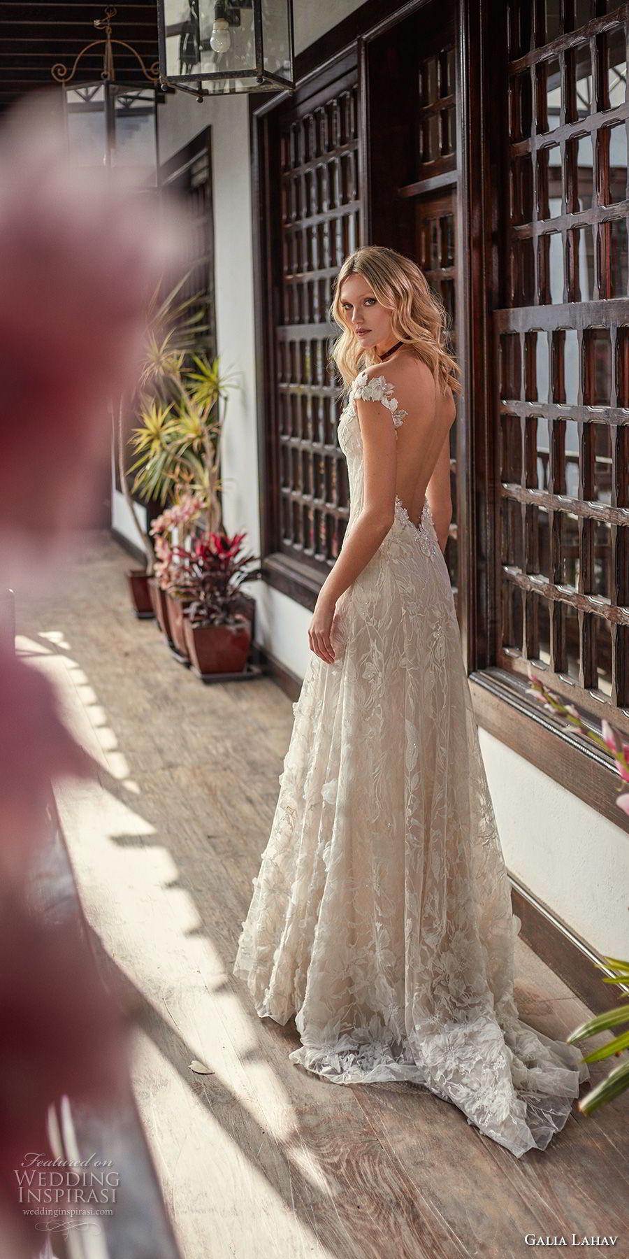 galia lahav couture fall 2018 bridal cap sleeves sweetheart neckline full embellishment elegant romantic soft a  line wedding dress low open back sweep train (17) bv
