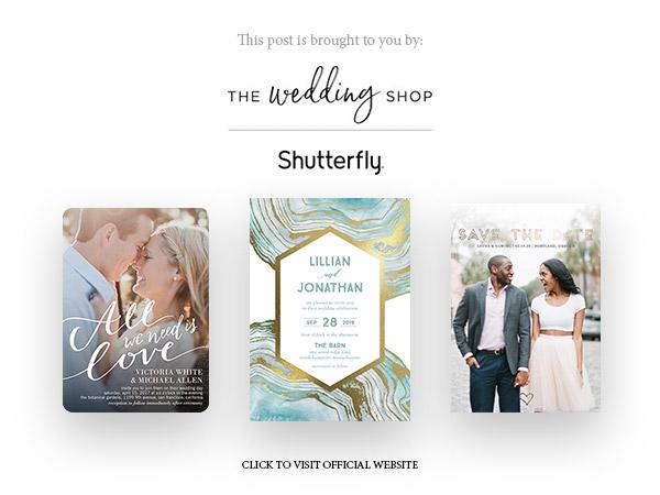 shutterfly the wedding shop invitation banner below