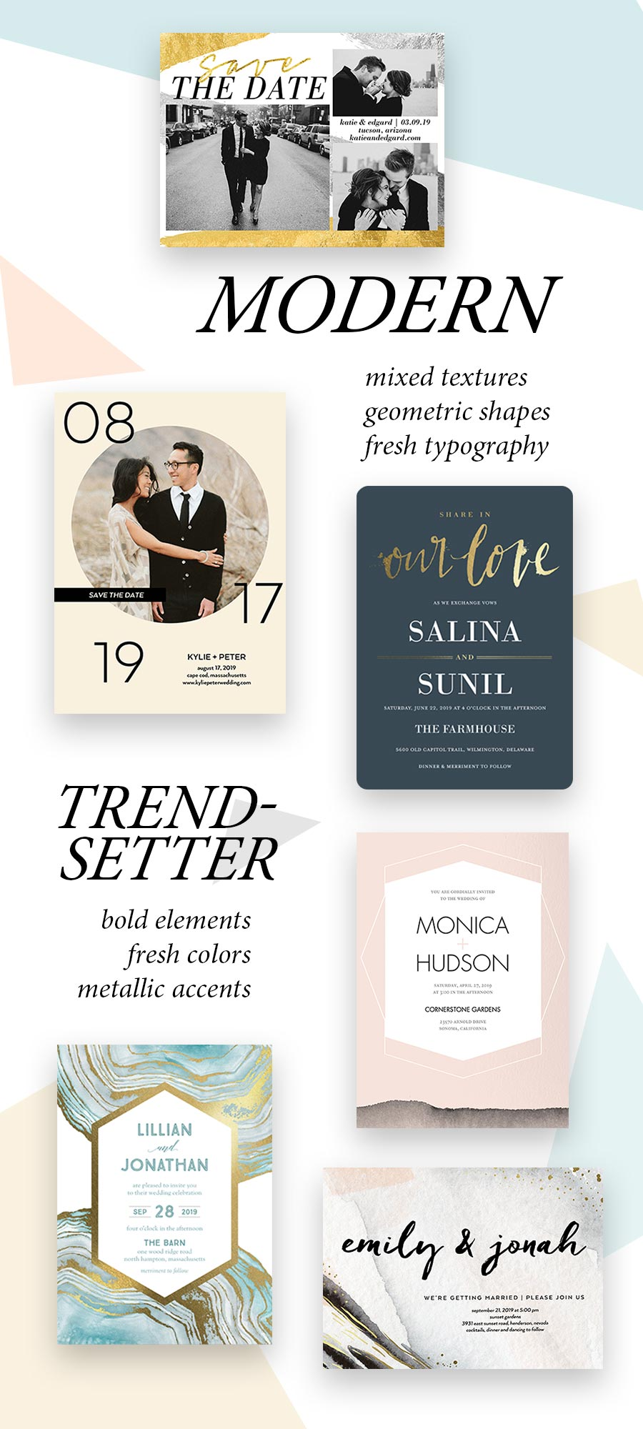 shutterfly wedding invitation save the date cards modern trend setting wedding styles