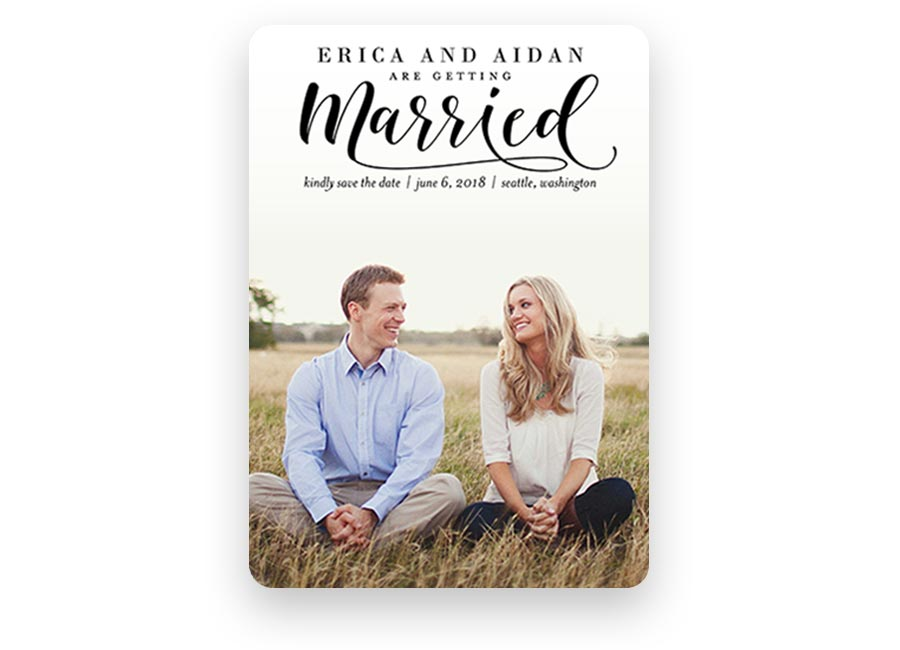shutterfly wedding invitations classic married save the date card higher