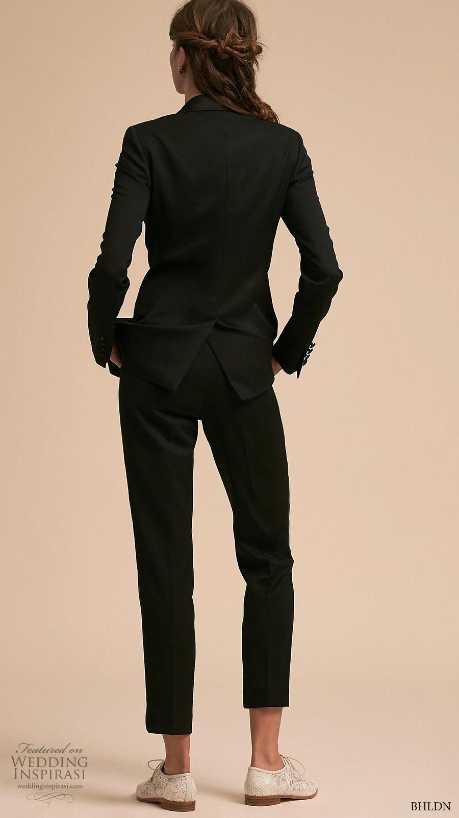 bhldn 2018 away bridal black blazer kipp pants tuxedo set bv