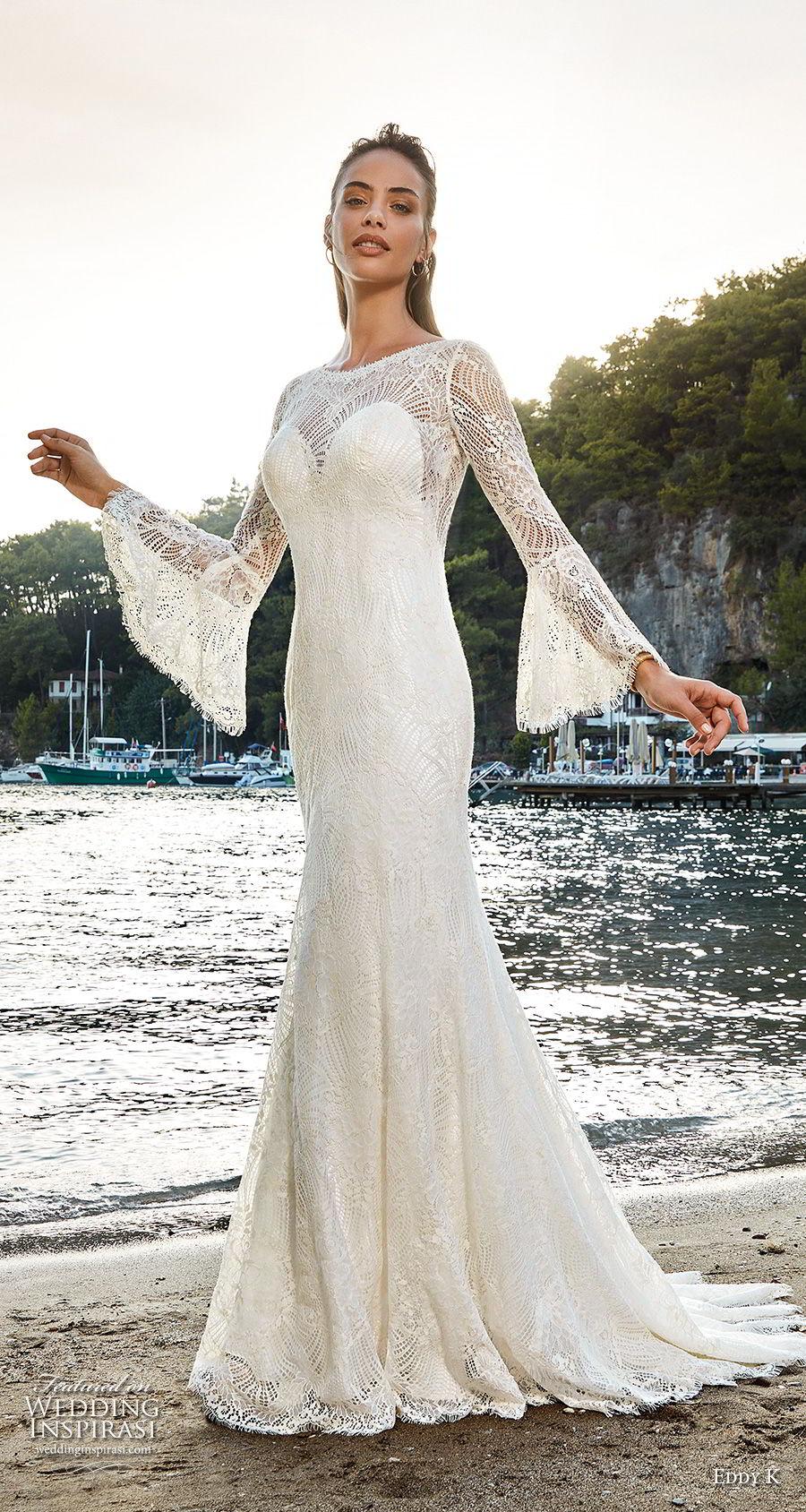 Elegant Boho Women White Wedding Gowns 2019 Wedding Dress Party