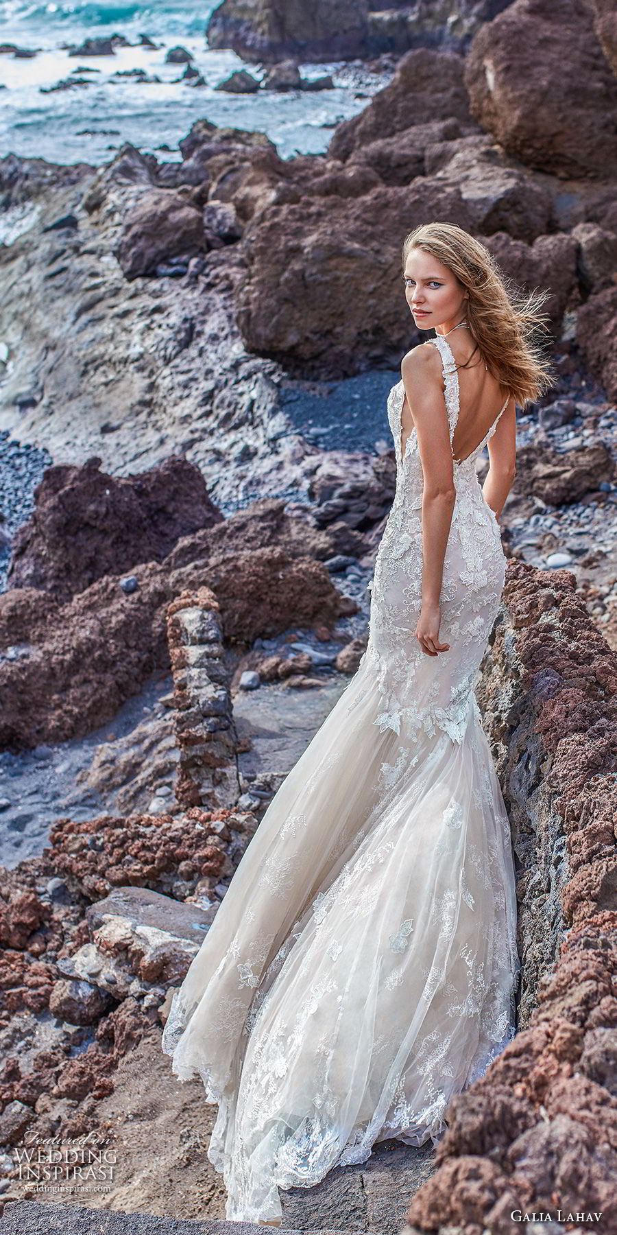 galia lahav gala 2018 bridal sleeveless deep v neck heavily embellished bodice open side elegant sexy mermaid wedding dress v back chapel train (3) bv