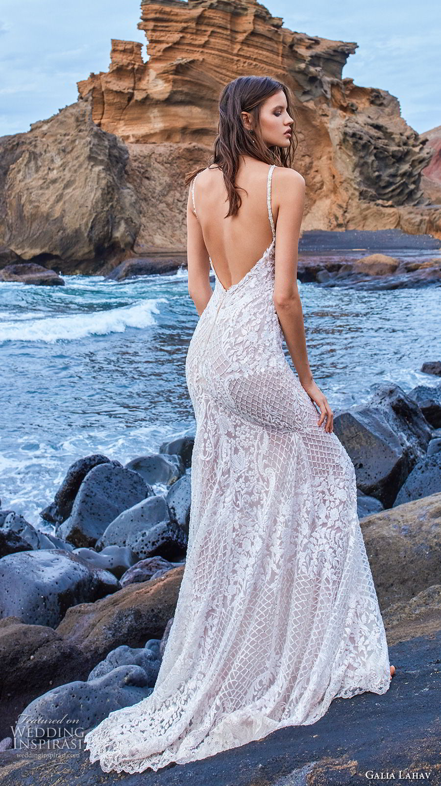 galia lahav gala 2018 bridal sleeveless with strap deep v neck full embellishment elegant fit and flare sheath wedding dress open low back sweep train (13) bv