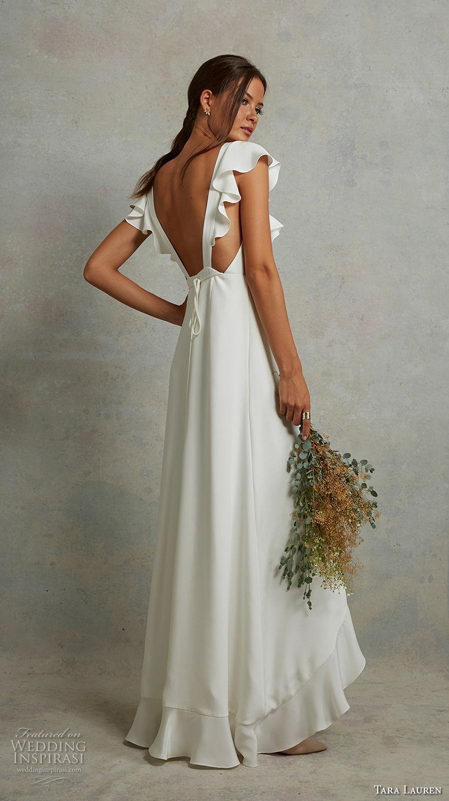 Tara lauren spring 2018 wedding dresses wedding inspirasi for Butterfly back wedding dress