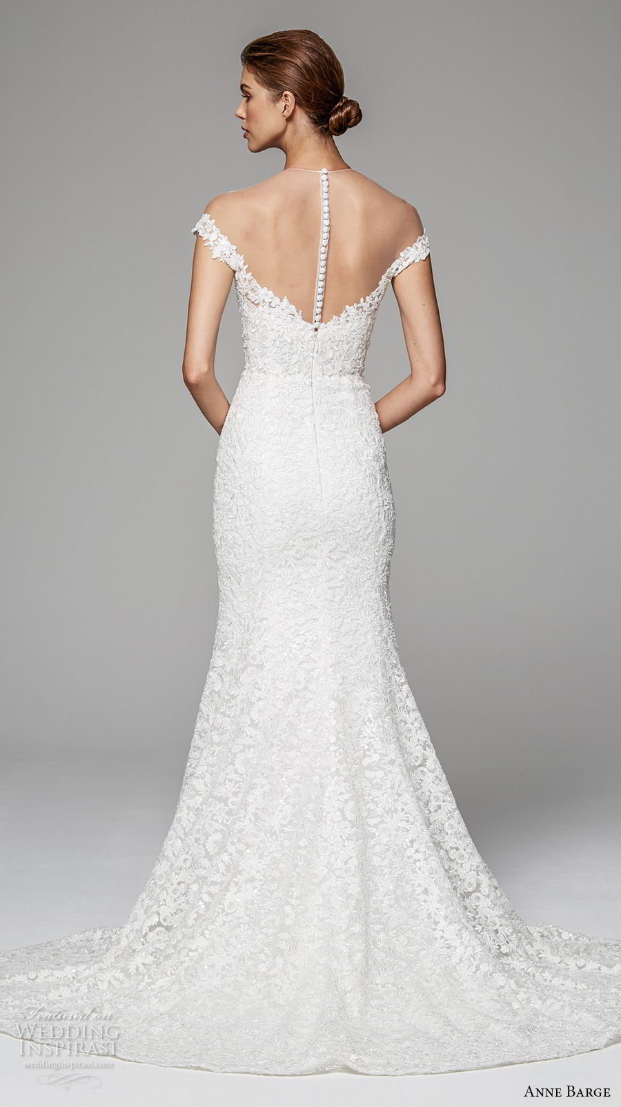 anne barge fall 2018 bridal cap sleeves illusion jewel sweetheart neckline full embellishment romantic fit and flare wedding dress scoop back short train (6) bv