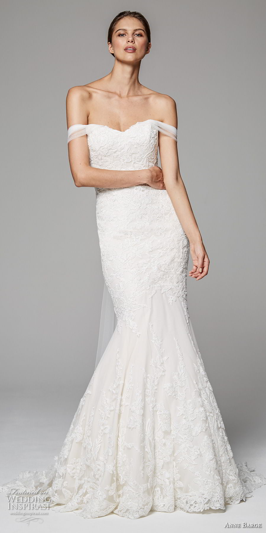 anne barge fall 2018 bridal off the shoulder sweetheart neckline full embellishment elegant mermaid wedding dress sweep train (4) mv