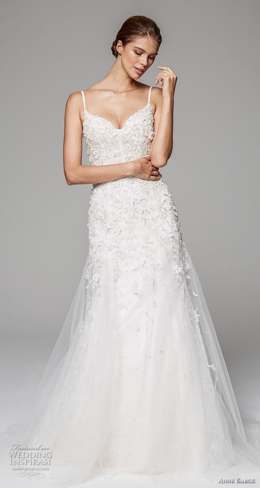 anne barge fall 2018 bridal sleeveless spaghetti strap sweetheart neckline heavily embeliished bodice romantic a  line wedding dress open scoop back sweep train (9) mv