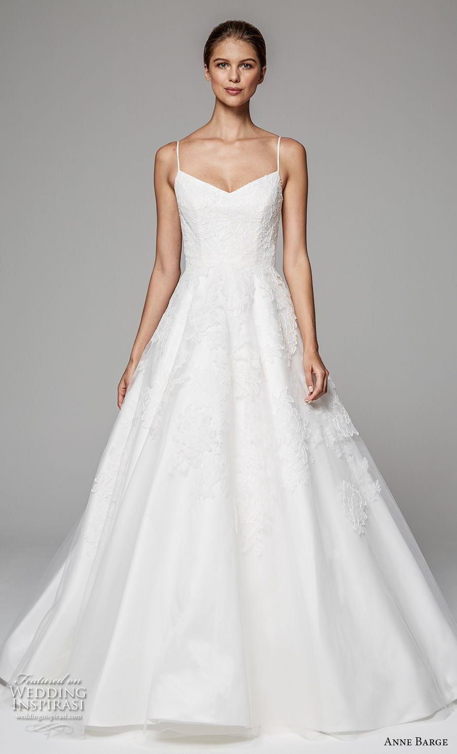 anne barge fall 2018 bridal sleeveless spaghetti strap sweetheart neckline lightly embellished bodice romantic a  line wedding dress scoop back sweep train (7) mv