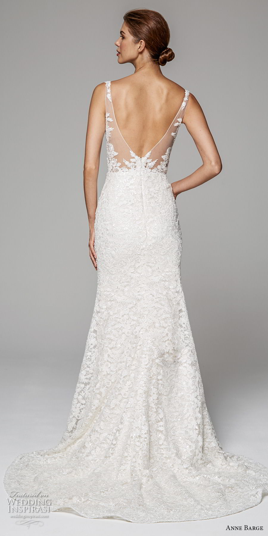 anne barge fall 2018 bridal sleeveless v neck full embellishment elegant trumpet wedding dress open v back sweep train (8) bv