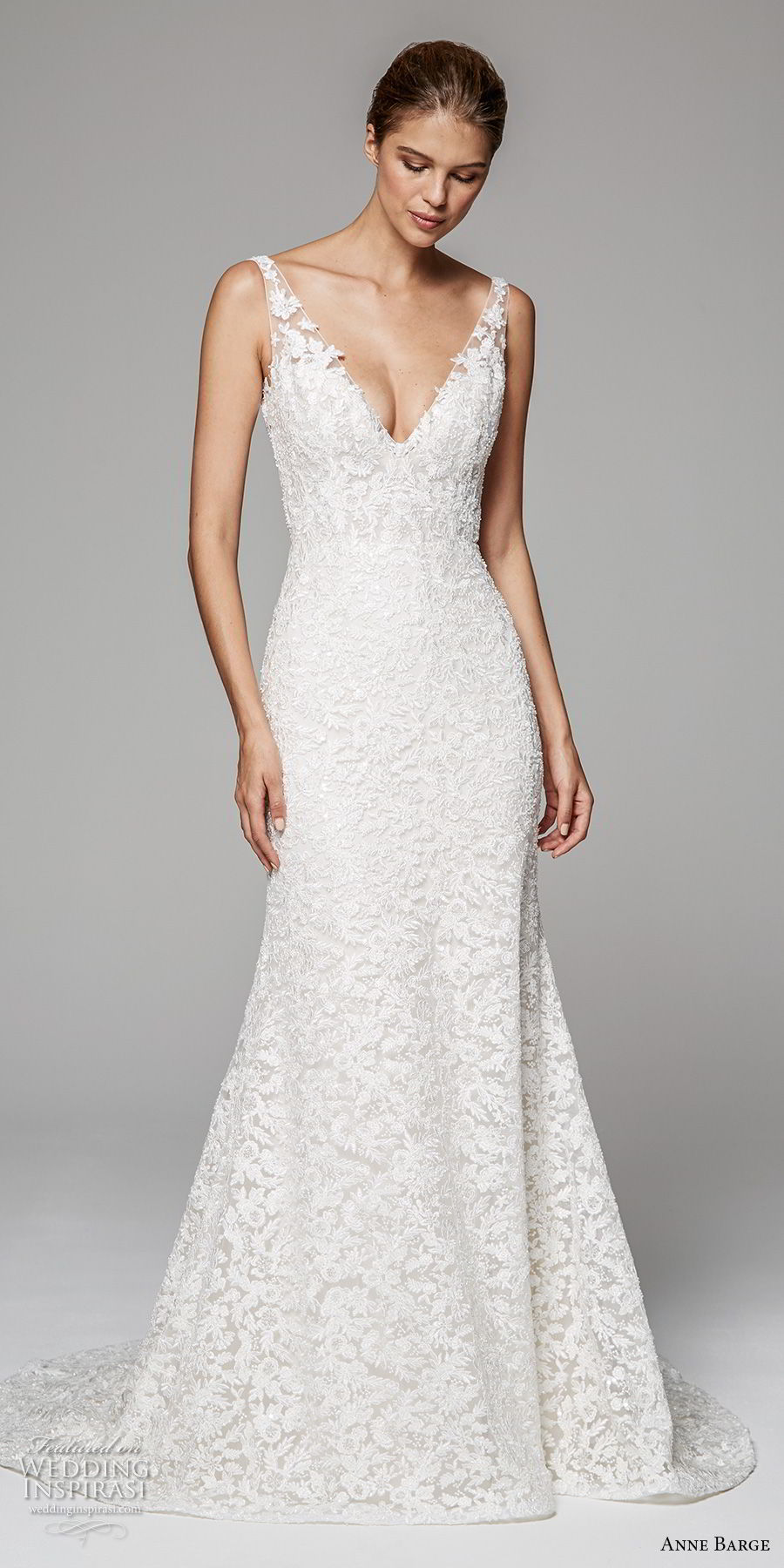 anne barge fall 2018 bridal sleeveless v neck full embellishment elegant trumpet wedding dress open v back sweep train (8) mv