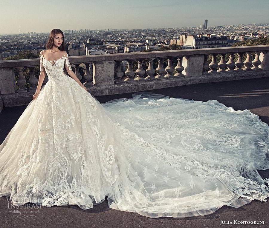 Princess Wedding Gowns With Sleeves: Julia Kontogruni Wedding Dresses 2018