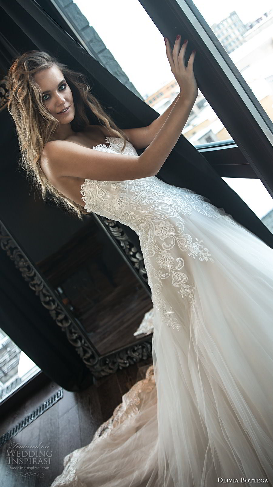 olivia bottega 2018 bridal strapless sweetheart neckline heavily embellished bodice romantic blush a line wedding dress chapel train (8) zv