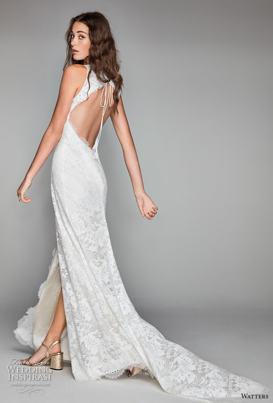 willow by watters spring 2018 sleeveless v neck full embellishment middle slit elegant sheath wedding dress keyhole back sweep train (15) bv