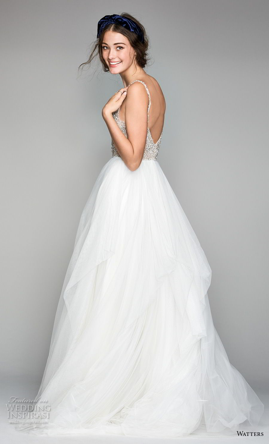 willow by watters spring 2018 thin straps sweetheart neckline heavily embellished bodice glamorous romantic a  line wedding dress v back sweep train (8) bv