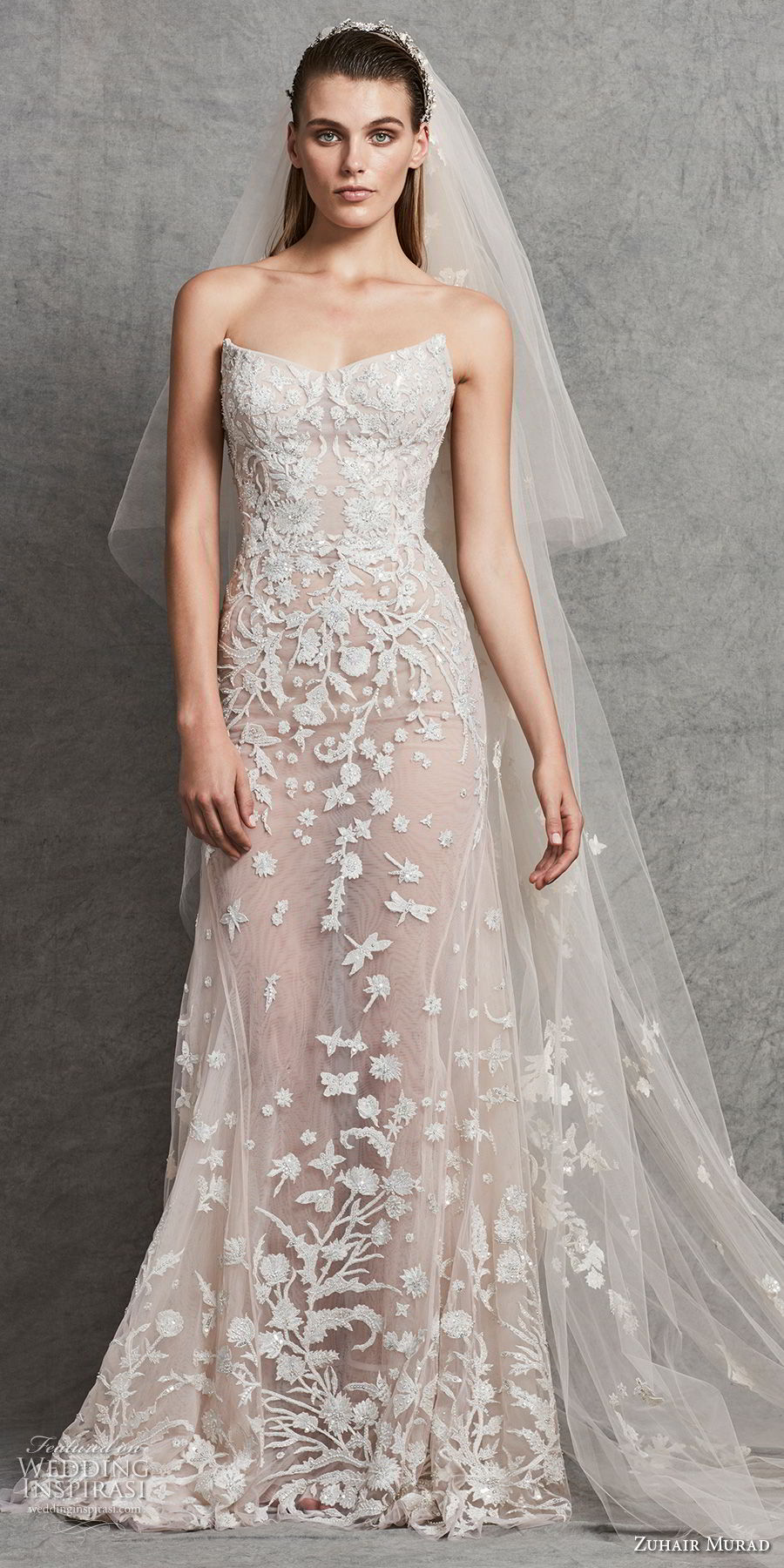 zuhair murad fall 2018 bridal strapless sweetheart neckline full embellishment elegant modified a line wedding dress (3) mv