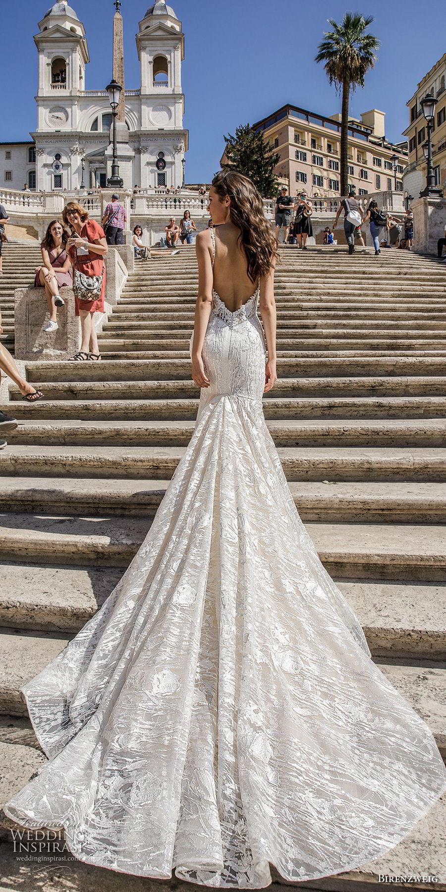 birenzweig 2018 bridal spaghetti strap deep plunging sweetheart neckline full embellishment elegant romantic fit and flare wedding dress open back chapel train (10) bv mv